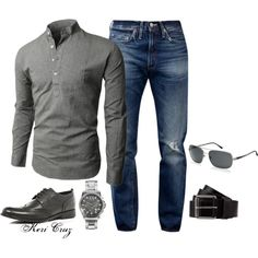 A fashion look from July 2013 featuring Armani Exchange, burberry sunglasses and men's casual shirts. Browse and shop related looks. Look Fashion, Fashion Outfits, Mens Fashion, Fashion Trends, Luxury Fashion, Sharp Dressed Man, Well Dressed Men, Mode Man, Casual Outfits