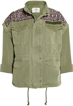 Day Breaker Embroidered Cotton Parka - Lyst