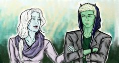 Catarina Loss and Ragnor Fell from the Shadowhunter Chronicles most likely being dragged into some of Magnus' shenanigans. They're cute.