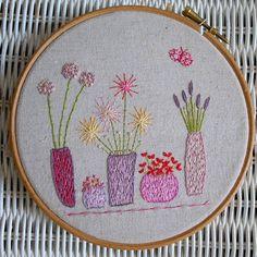 the somnambulist hand embroidery pattern PDF par LiliPopo sur Etsy Embroidery Hoop Art, Embroidery Applique, Cross Stitch Embroidery, Embroidery Patterns, Flower Embroidery, Sweater Embroidery, Flower Patterns, Hand Stitching, Needlework