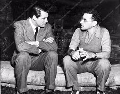 George Cukor Cary Grant cool behind the scenes candid 711-09 Philadelphia Story