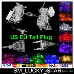 Wholesale cheap garden string lights online, no - Find best hot sale!X10 lED string lights With tail plug 10M 100LED For christmas/Wedding/Party/Home/Garden outdoor decoration lamps 110V 220V at discount prices from Chinese lED strings supplier on DHgate.com.