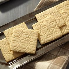Indelibly Embossed Cookies - Homemade cookies make an even greater impression when you emboss them before baking. Just use the French Rolling Pin to roll out the dough, then roll the Geometric Pattern Embosser over the top. It adds a pretty pattern that will give your cookies a gentle elegance.