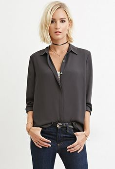 Collared Woven Blouse | Forever 21 | #thelatest