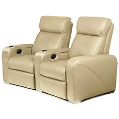 Premiere Home Cinema Seating - 2 Seater Beige With Mini Fridge Home Cinema Seating, Cinema Seats, Massage, Mini Fridge, Home Cinemas, Own Home, Recliner, Beige, Chair