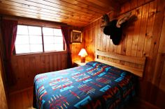 The Moose room in our Three Bedroom Cabin at Three Bears Lodge in Red River, New Mexico!