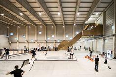 New skatepark indoor in Andorra! Halle, California Skateparks, Springfield Massachusetts, Sport Park, Youth Center, Sports Complex, Bike Parking, Andorra, Skate Park