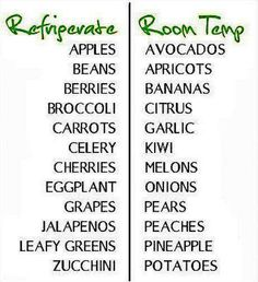 Should your fruits and veggies go in the fridge or on the guide cooking tips Get Healthy, Healthy Life, Healthy Recipes, Healthy Herbs, Healthy Foods, Healthy Snaks, Healthy Fridge, Healthy Junk, Paleo Meals
