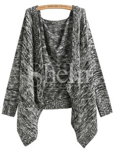 Shop Black Long Sleeve Knit Loose Cardigan online. SheIn offers Black Long Sleeve Knit Loose Cardigan & more to fit your fashionable needs.