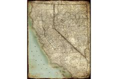 Picture-California Map - Living Spaces