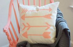 Use some freezer paper to stencil arrows on a pillow.