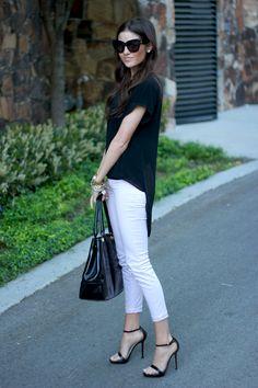 Top: c/o Flourish Boutique | Pants: J.Brand | Bag: Tory Burch | Heels: Zara | Sunnies: House of Harlow