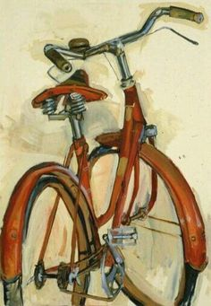 Bicycle Paintings, Prints and Custom Bike Art Portraits Bicycle Painting, Bicycle Art, Bicycle Design, Cycling Art, Cycling Quotes, Cycling Jerseys, Art Et Illustration, Art Plastique, Painting Inspiration