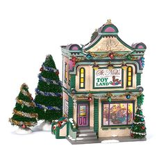 Department 56 Snow Village St Nicks Toy Land * Check out this great product. Christmas Village Decorations, Christmas Village Houses, Christmas Villages, Department 56 Christmas Village, Dept 56 Snow Village, A Christmas Story, Christmas Home, Christmas Items, Christmas Decor