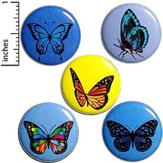 Cool Butterfly Button Pack Purple Blue Gold Pretty Backpack Jacket Pin - U. shipping starts at just 85 cents! Funny Buttons, Cool Buttons, Butterfly Gifts, Butterfly Pin, Pretty Backpacks, Backpack For Teens, Teen Backpack, Bag Pins, Jacket Pins