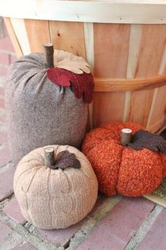 Upcycled sweater pumpkins by maritza