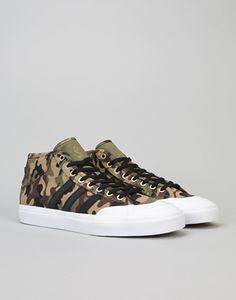 6562d44ad74 Adidas Matchcourt Mid ADV Skate Shoes - Tent Green Core Black White