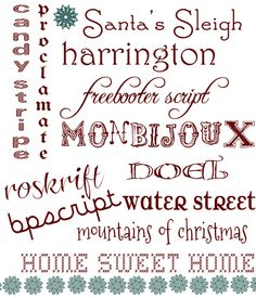 12 Holiday Inspired Fonts via {Acute Designs} #holiday #christmas #fonts #typography