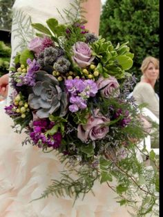 Lots of texture create this beautiful garden bouquet  ,designed by Lilypots of Lake  Geneva .