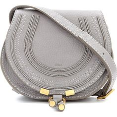 CHLOE Marcie small saddle bag (Cashmere grey £435