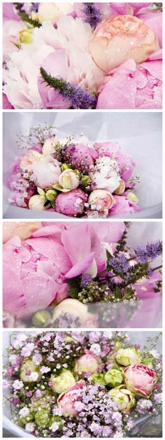 Romantic monochromatic pinks. I would love love love to do a platinum and pink wedding with mixes of dusty pinks, soft rose petal pinks, grays and hints of subtle bling!