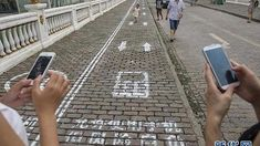 Good news to phone addicts! You have your own lane in Chongqing, China to keep you safe while walking blindly around the city! Any idea how much is the airfare to China? Bizarre Facts, Wtf Fun Facts, True Facts, Funny Facts, Shocking Facts, Crazy Facts, Random Facts, In China, The More You Know
