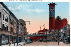 """Flatbush Avenue and Nevins Street,"" 1918"