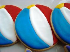 beach ball cookie