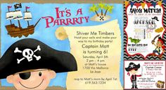 Just when a birthday party is over, kids typically wait for the next one to roll around! Whether it is their own birthday party or that of their friends, it is Ahoy Matey, Birthday Party Celebration, Rsvp, Invitations, Make It Yourself, Blog, Kids, Young Children, Boys