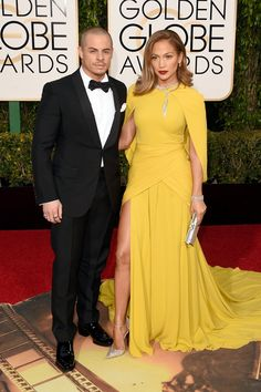 Pin for Later: These Celebrity Couples Amped Up the PDA at the Golden Globe Awards Jennifer Lopez and Casper Smart