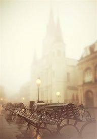 Fog in New Orleans, Louisiana