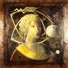 Iknakhaton - Pythagoras, 1979 - Christo Coetzee Art Database, Arte Pop, Japanese Prints, Art Blog, Baroque, Surrealism, Monochrome, Pop Art, Mona Lisa