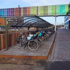 Falco heeft fietsparkeervoorzieningen geplaatst bij het Prinses Maxima Centrum. Het betreft fietsoverkappingen, etagerekken en fietsenrekken. Motorcycle, Vehicles, Biking, Car, Motorcycles, Motorbikes, Vehicle, Choppers, Tools