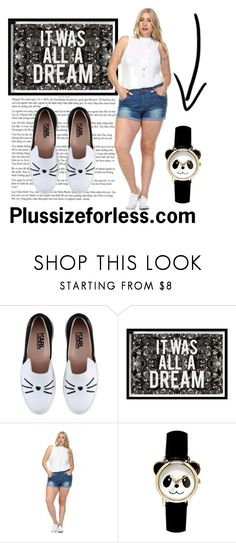 """""""PLUSSIZEFORLESS"""" by plussizeforless ❤ liked on Polyvore featuring Karl Lagerfeld and Oliver Gal Artist Co."""