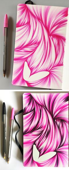 Adding black to this sketch gave it more depth and perspective.Click through to see more ballpoint sketches by Jennifer Johansson.