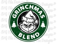 Grinch / Grinchmas Starbucks Logo Cut File in Svg, Eps, Dxf, Png, and Jpeg for Cricut & Silhouette by SVGFileDesigns on Etsy