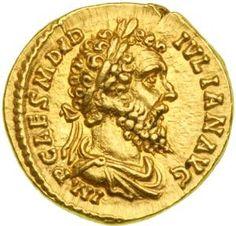 Didius Julianus AV Aureus. IMP CAES M DID IVLIAN AVG, laureate draped bust right / RECTOR ORBIS, emperor standing left, holding globe & roll. Cohen 14, Calico 2399. * Sear RCV 6071 * WildWinds.com