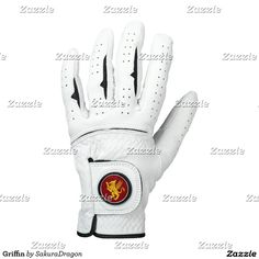 Griffin Golf Glove #griffin #gryphon #fantasy #monster #red