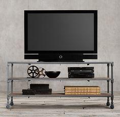 "RH's Dutch Industrial 68"" Media Console:Designer Luay Al Rawi's…"