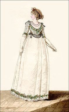 Ball Dress September 1798 - with description on page