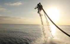 Water Jetpack - The Jetlev propels you into the air using water