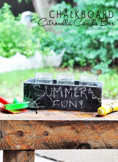 DIY Citronella Candle Box
