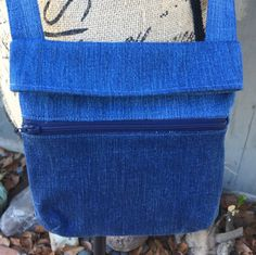 Denim Small Cross Body Fold Over Bag - Perfect for Hands Free Shopping by AllintheJeans on Etsy