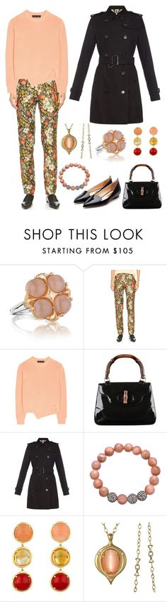 """""""Visiting a friend in the hospital"""" by karen-galves ❤ liked on Polyvore featuring Tacori, 10 Crosby Derek Lam, Proenza Schouler, Gucci, Burberry, Emily & Ashley, Anahita and Rupert Sanderson"""