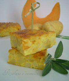 Frittata al forno di zucca e patate  http://blog.giallozafferano.it/rafanoecannella/frittata-al-forno-zucca-patate/