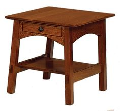 Craftsman style end table