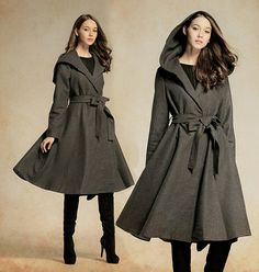 Grey Wool Coat Grey Wool Jacket Wool Blazer by camelliatune