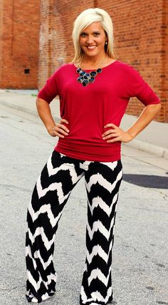 Plus Size Archives - 105 West Boutique Red Pants Outfit, Fall Winter Outfits, Spring Outfits, Palazzo Pants, Work Attire, Passion For Fashion, Cute Outfits, Work Outfits, Simple Outfits