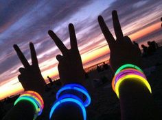 Give kids glo stick bracelets and/or necklaces to wear when it gets dark