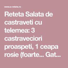 Reteta Salata de castraveti cu telemea:  3 castraveciori proaspeti, 1 ceapa rosie (foarte... Gateste Salata de castraveti cu telemea Salads
